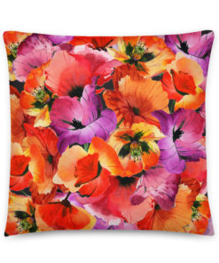 POWER POPPIES #1 Pillow