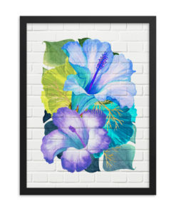 BLUE TROPICALS Framed Poster