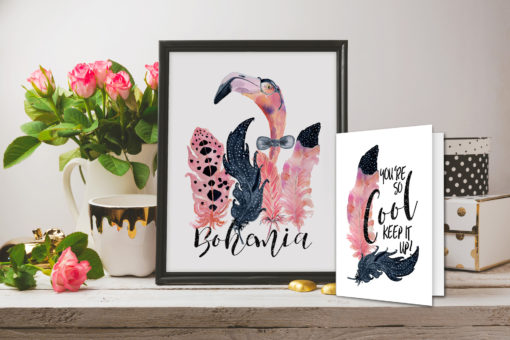 Sir Alastaire – Bohemian Pink Flamingo