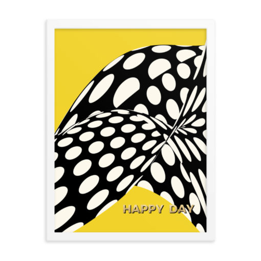 Yellow Wavy Dots