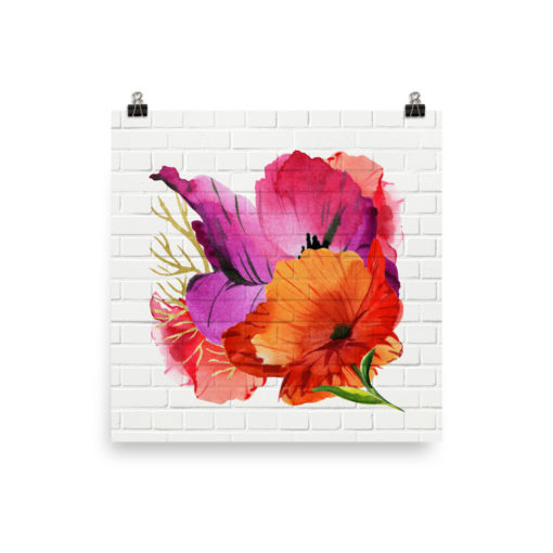 POWER POPPIES Poster square