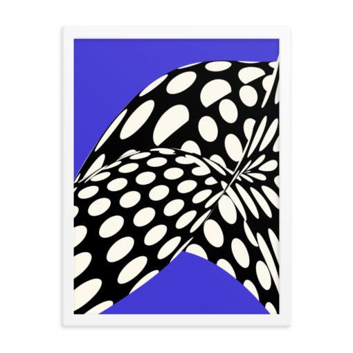 Blue Wavy Dots