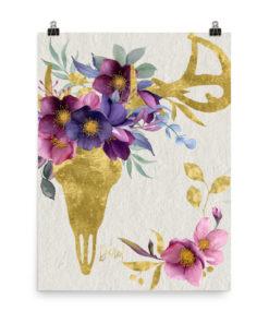 Bohemian Deer - Poster