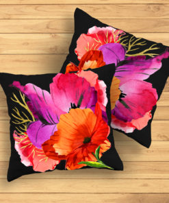 HAPPY POPPIES #2 Pillow