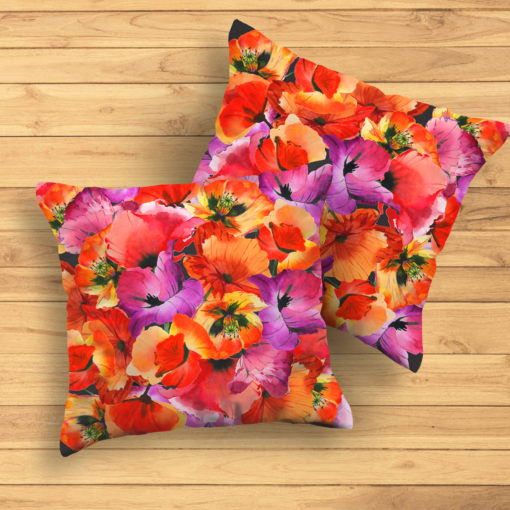 HAPPY POPPIES #1 Pillow
