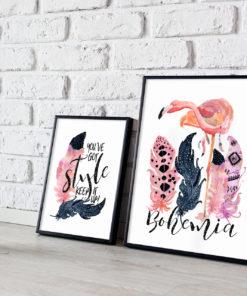 Miss Abigail – Bohemian Pink Flamingo