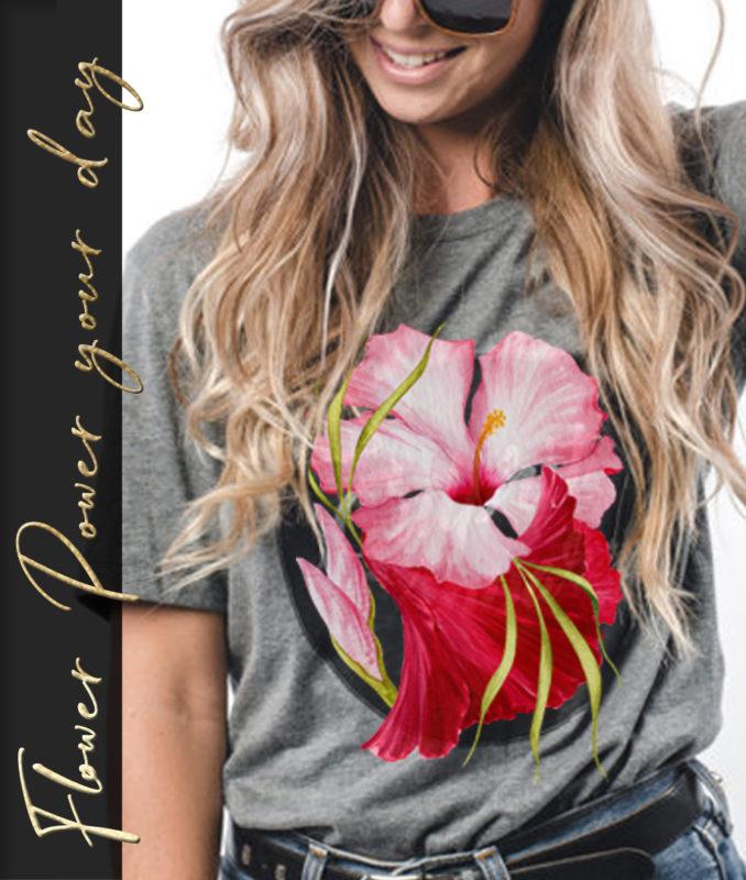 Flower Power – T-Shirt Mockup